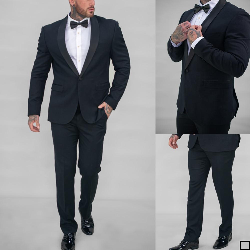 الكلاسيكية العرسان الرجال البدلات الرسمية الدعاوى 2 قطعة مجموعات مخصص الزفاف حزب حفلة موسيقية سترة السراويل اليومية معطف