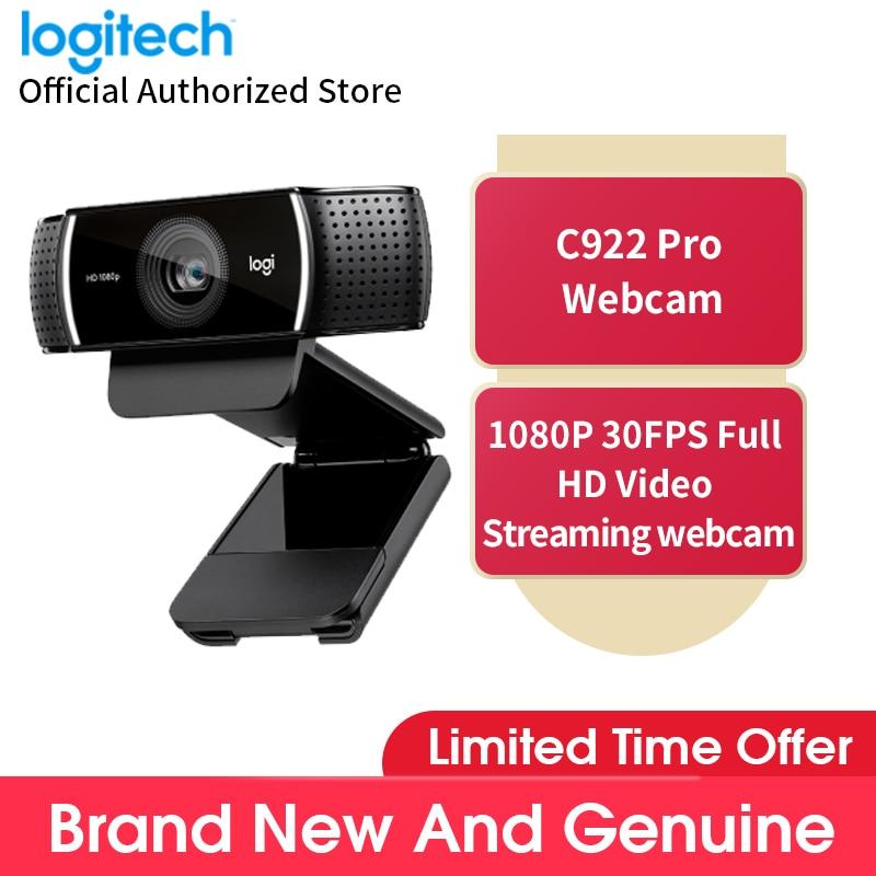 Logitech C922 Pro Full HD 1080p بث مباشر مرساة كاميرا فيديو الجمال كمبيوتر مكتبي كاميرا ويب الفقرة pc كاميرا
