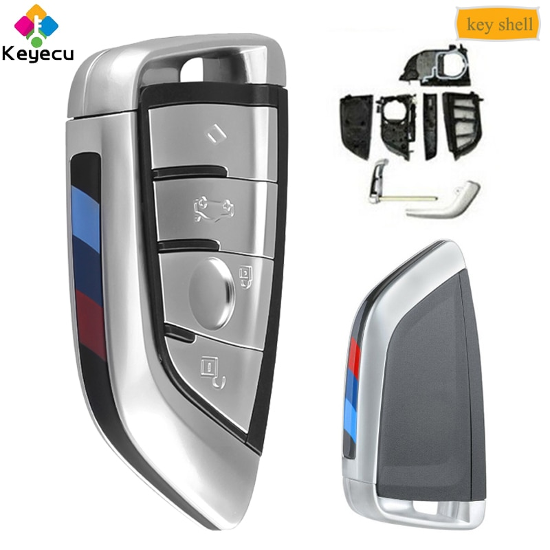 KEYECU интеллектуальный пульт дистанционного управления Управление корпус для автомобильного ключа чехол с 4 кнопками-брелок для BMW G20 G30 G32 G11 G15 G29 2015 2016 2017 2018 2019