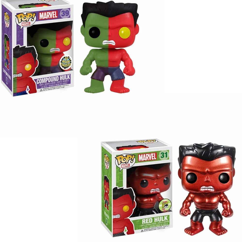 Funko pop redhulk composto hulk figura brinquedos coleção modelo de brinquedo presente