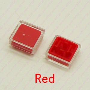 100PCS-1000PCS 12X12mm (Cap+Transparent Cover) suit for 12x12x7.3mm Square Head Tact Switch Push Button Switch Micro Key Button