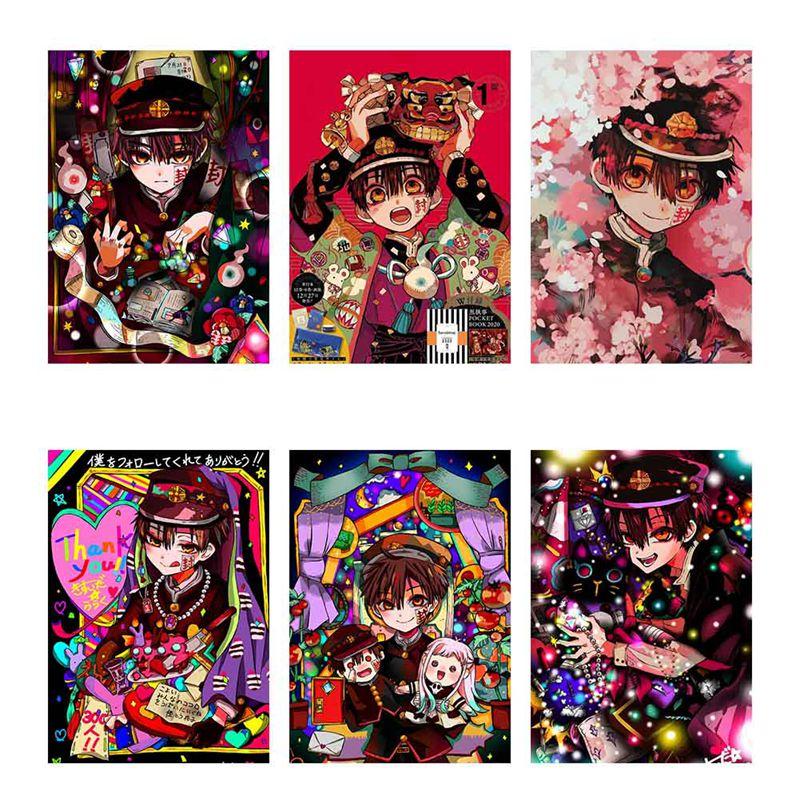 Póster de pared Hanako-kun con diseño de Anime, decoración de desplazamiento, cuadro adhesivo para pared, Bar, cafetería, hogar