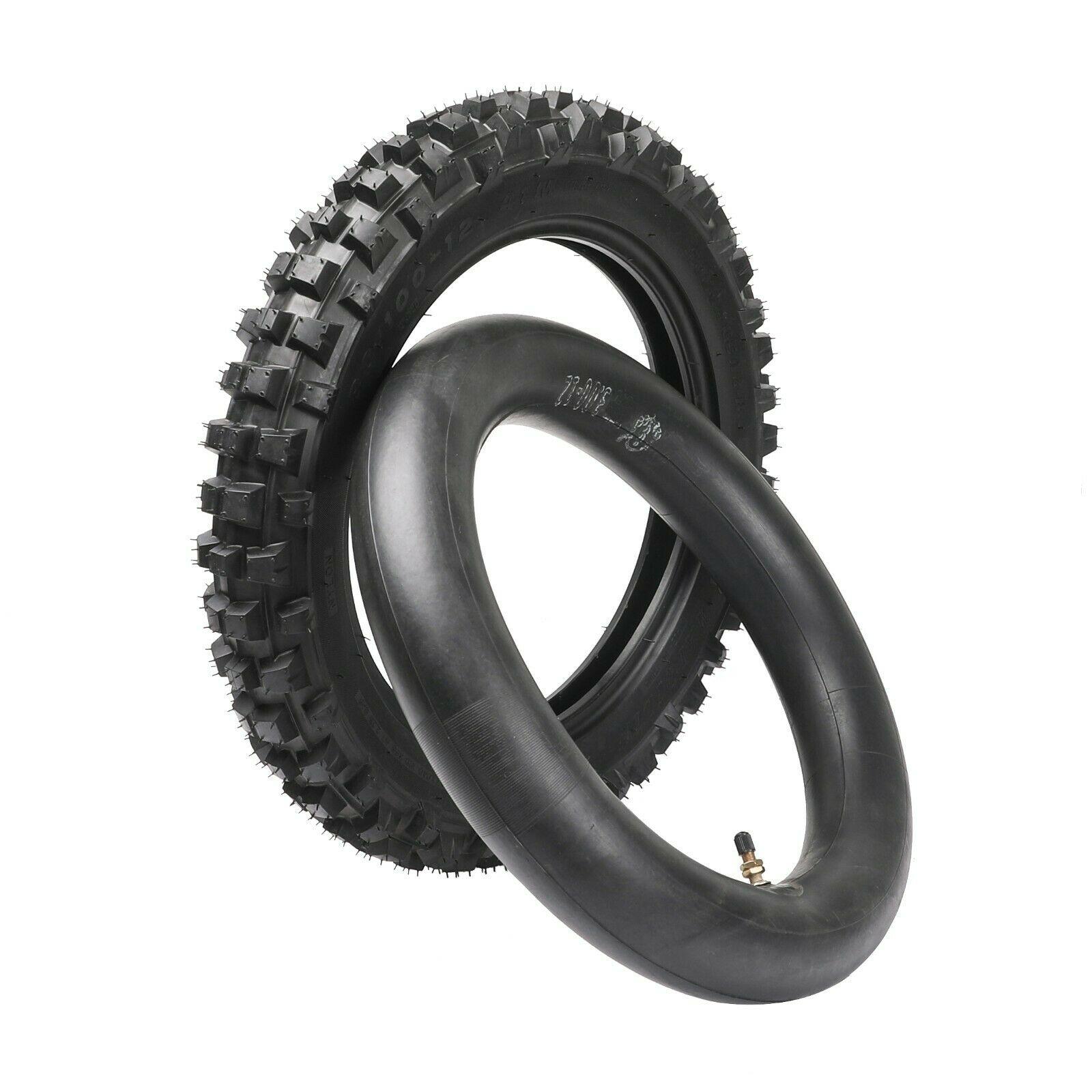 """12 """"neumático trasero 3,00-12-12 neumático + Tubo de Pit Bike YZ50 YZ60 PW80 TTR90 TTR110 80/100-12-12"""
