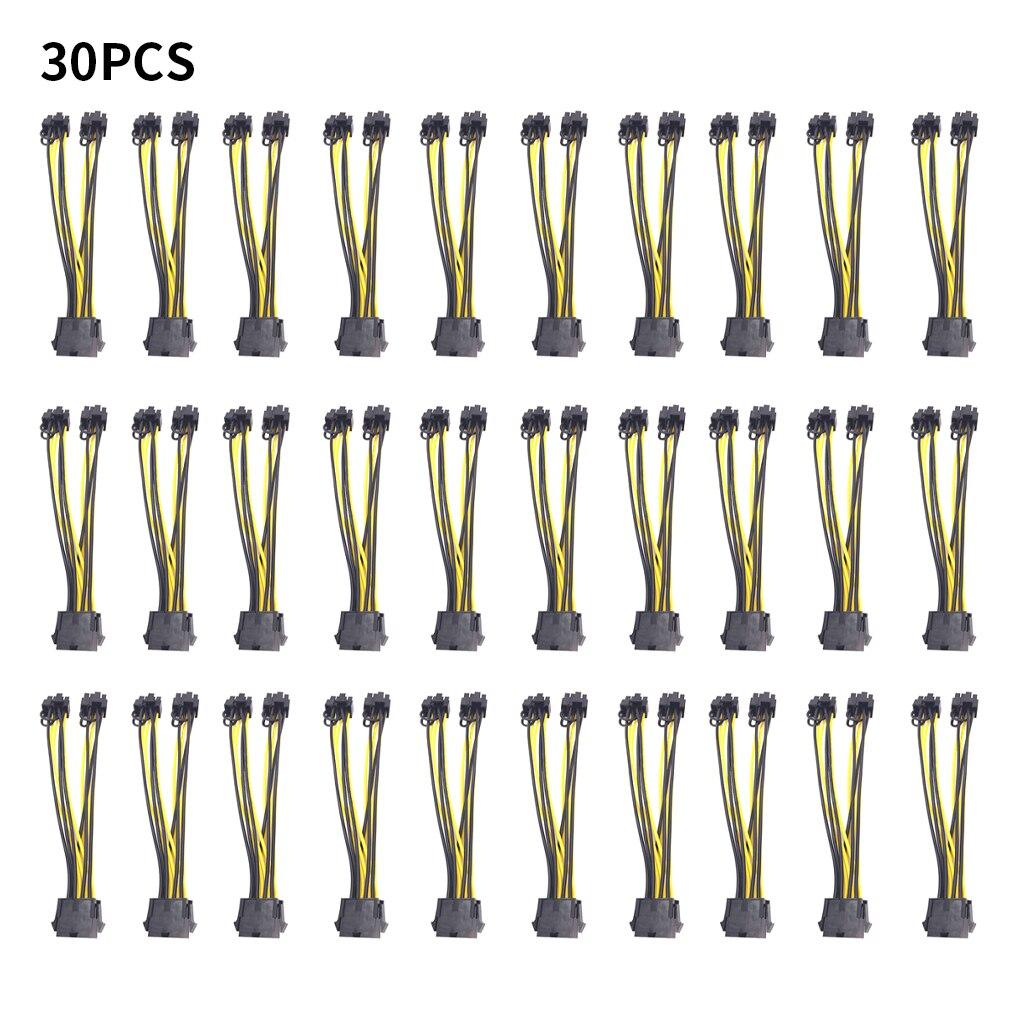 pci e 6 pin to dual 6 2 pin 6 pin 8 pin power splitter cable graphics card pcie pci express 6pin to dual 8pin power cable 8 Pin to dual 8 (6+2) Pin PCI Express Power Cable Converter Cable for Graphics GPU Video Card PCIE PCI-E VGA Splitter Hub