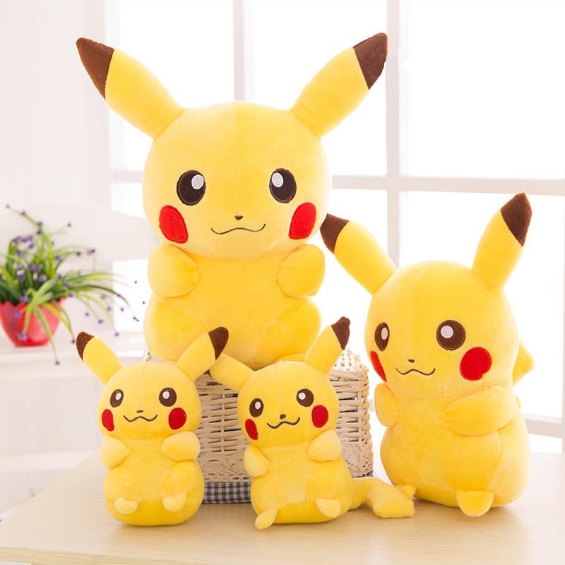 2020 TAKARA TOMY Pokemon Pikachu Plush Toys Stuffed Toys Japan Movie Pikachu Anime Dolls Christmas Birthday Gifts for Kids