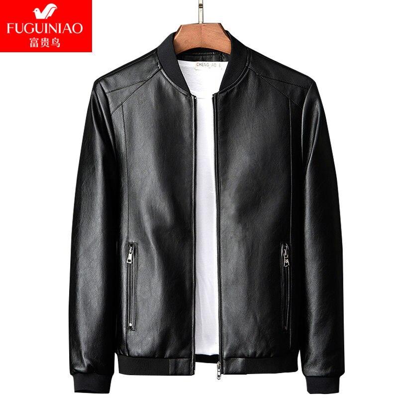 SHABIQI chaqueta de Hombre Abrigos M-8XL de talla grande marca de alta calidad PU prendas de vestir exteriores de invierno de negocios chaqueta de piel sintética de lana para hombre