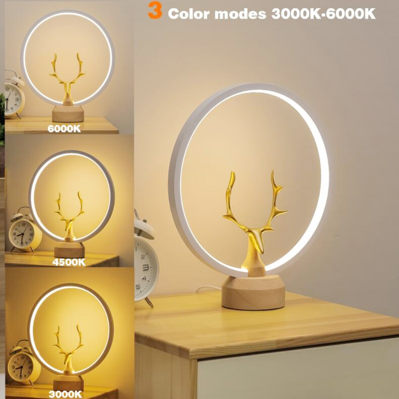 2021Newest Creative LED Table Lamp Ellipse Night Light For Beedroom Office Home Decor Gift Reading Light