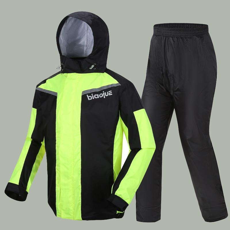 Waterproof Pants Raincoat Jacket Set Scooter Motorcycle Rainsuit Raincoat Poncho Reusable Trajes Impermeables Rain Gear AD50RC enlarge