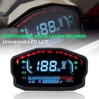universal motorcycle lcd digital speedometer gear backlight motorcycle odometer for 24 cylinders motorcycle meter