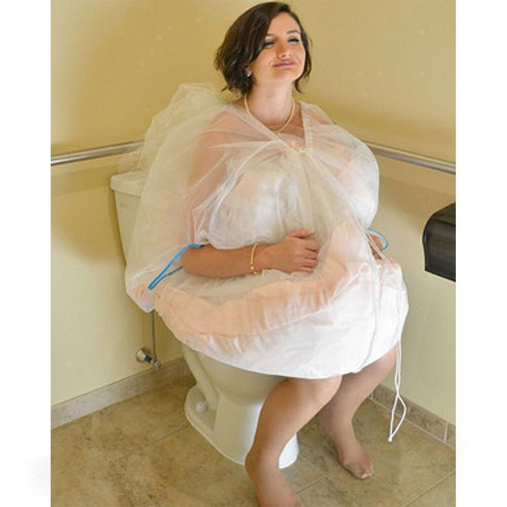 In Stock Bridal Petticoat Gather Skirt Slip Toilet Petticoat Toilet Save Wedding Dress From Toilet Water 2019 Buddy