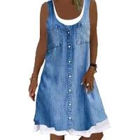 vintage floral print women dress 2021 new summer sleeveless casual street beach loose dress vestidos de festa