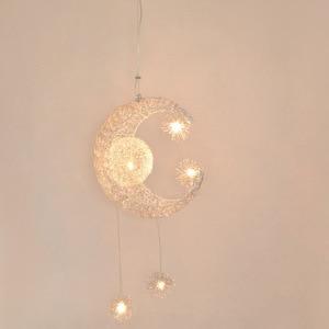Modern Creative Pendant Light Moon Star Suspension Kids Bedroom Hanging Lamp Christmas Decorations For home Fixture Lighting LED