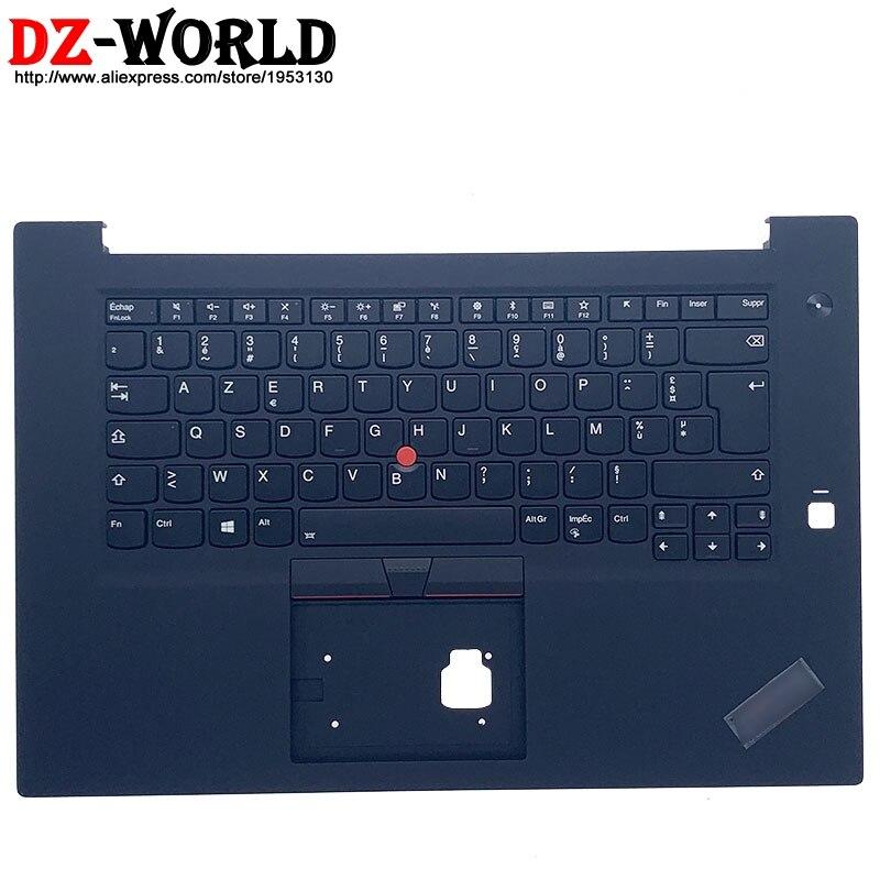 إعادة طلاء شل Palmrest العلوي مع الفرنسية الخلفية لوحة المفاتيح لينوفو ثينك باد P1 Gen1 X1 المتطرفة 1st محمول C غطاء 01YU773