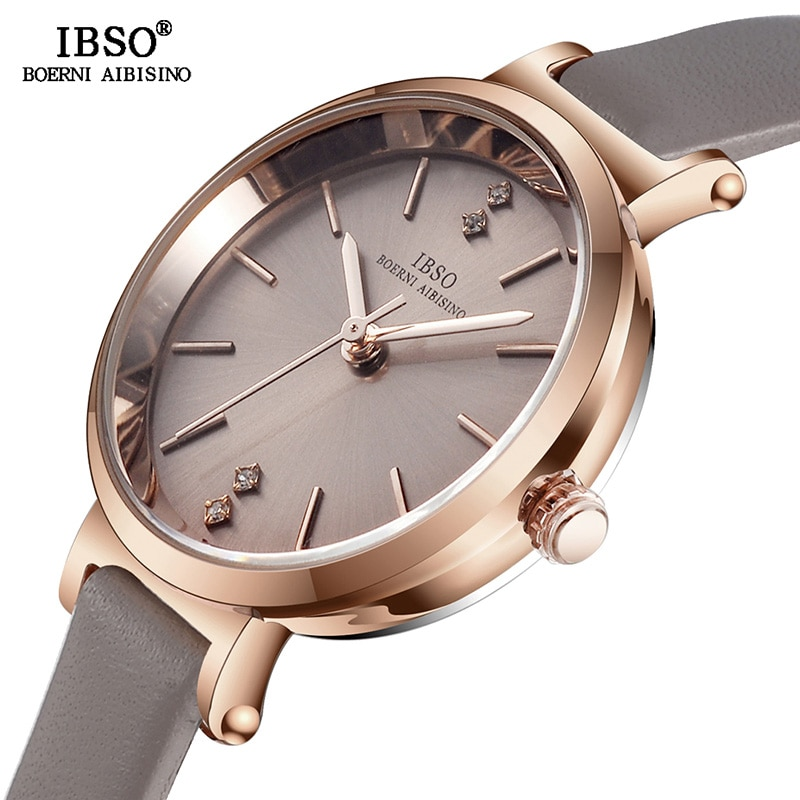 IBSO 8 MM Ultra-Thin Wrist Women Watches Luxury Female Clock Fashion Montre Femme 2020 Ladies Quartz Watch Relogio Feminino enlarge