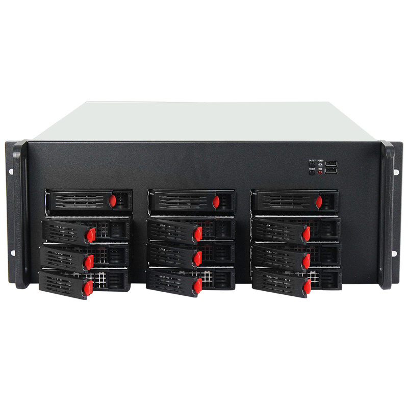 Manufacture Industrial Server rack 4U Storage Chassis  with 12 Hot-swap Drive Bays