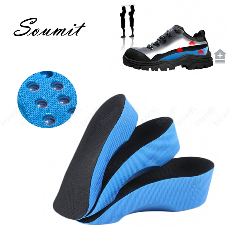height increasing insoles for women men flat foot arch support shoes pads u shape heel cup comfortable increased inserts cushion Height Increasing Insoles for Women Men Flat Foot Arch Support Shoes Pads U-shape Heel Cup Comfortable Increased Inserts Cushion