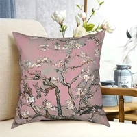 almond blossom vincent van gogh pink pastel pillowcase soft polyester cushion cover decorative pillow case cover home