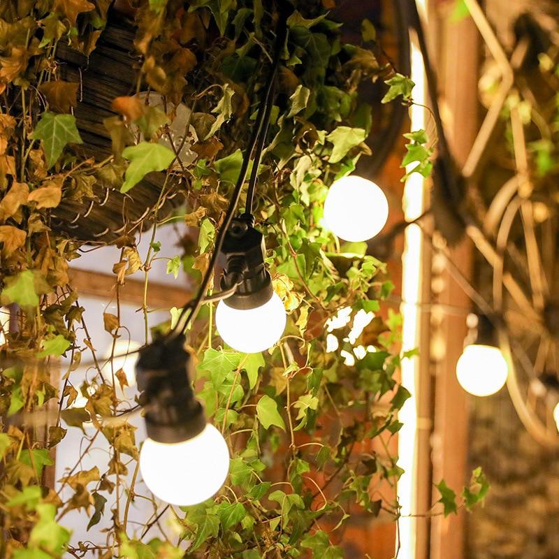 مصباح سلسلة LED خارجي منخفض التوتر ، إضاءة زخرفية فائقة السطوع ، مثالية للحديقة أو التخييم أو في الهواء الطلق.