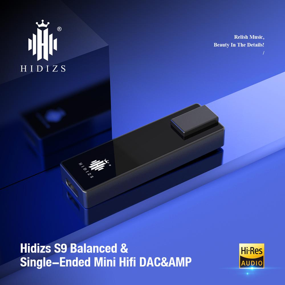 Hidizs S9 HiRes Headphone Amplifier HiFi Decoding USB TYPE C DAC to 3.5&2.5MM adapter DAC Amp for  Phones/PC Portable Audio out aptx amplificador bluetooth 5 0 hifi usb dac audio mini amp headphone amplifier 6n3 vacuum tube portable earphone amplifiers