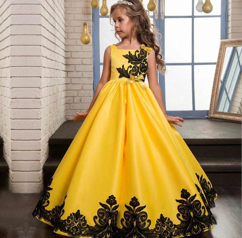 Children's Wedding Dresses Long Dresses Girls' Catwalk Evening Dresses Big Children's Princess Dresses