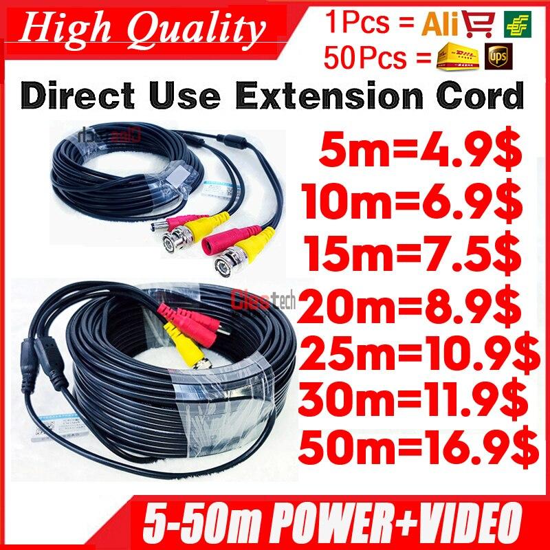 11.11ALL медный кабель AHD CCTV 5 м 10 м 15 м 20 м 30 м 50 м видео + Мощность HD медные провода удлинителя камеры с BNC + DC