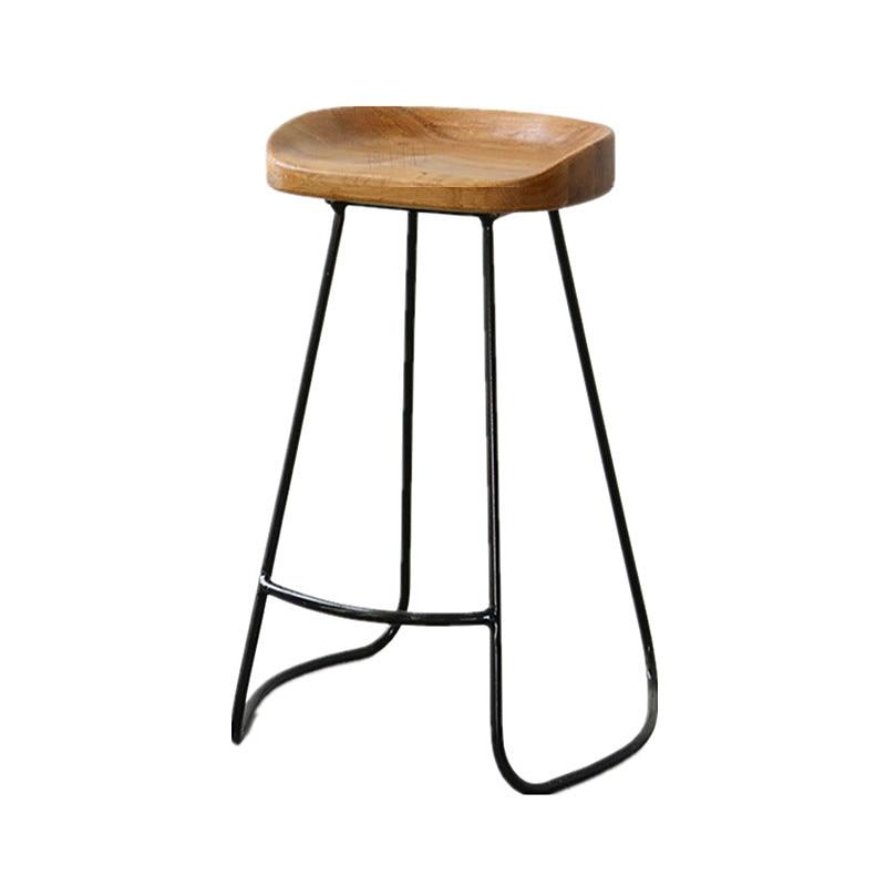 كرسي مرتفع حديث من الخشب الصلب للقدم ، كرسي مرتفع للمنزل ، مقهى ، مشروب بارد ، متجر ، بار