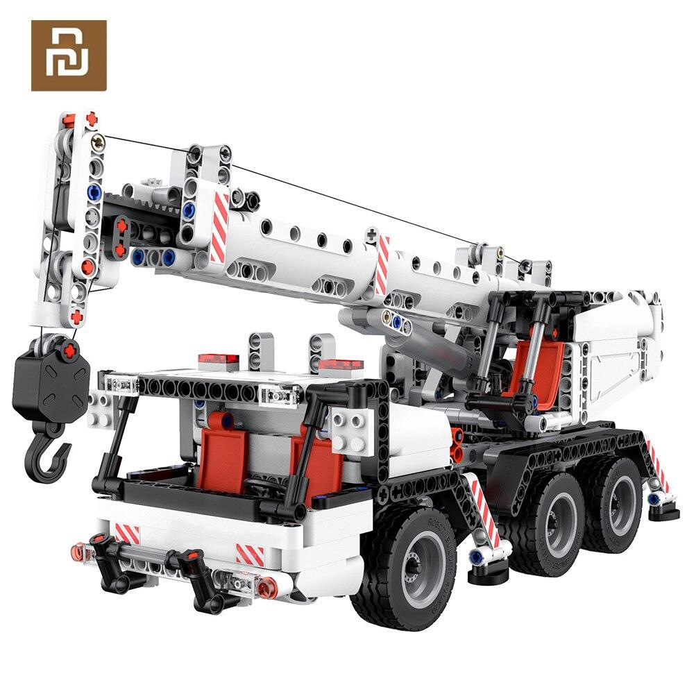 شاومي ONEBOT اللبنات مصغرة الهندسة رافعة روبوت التعليمية DIY بها بنفسك اللعب سيارة شاحنة 360 الدورية التحكم التوجيه