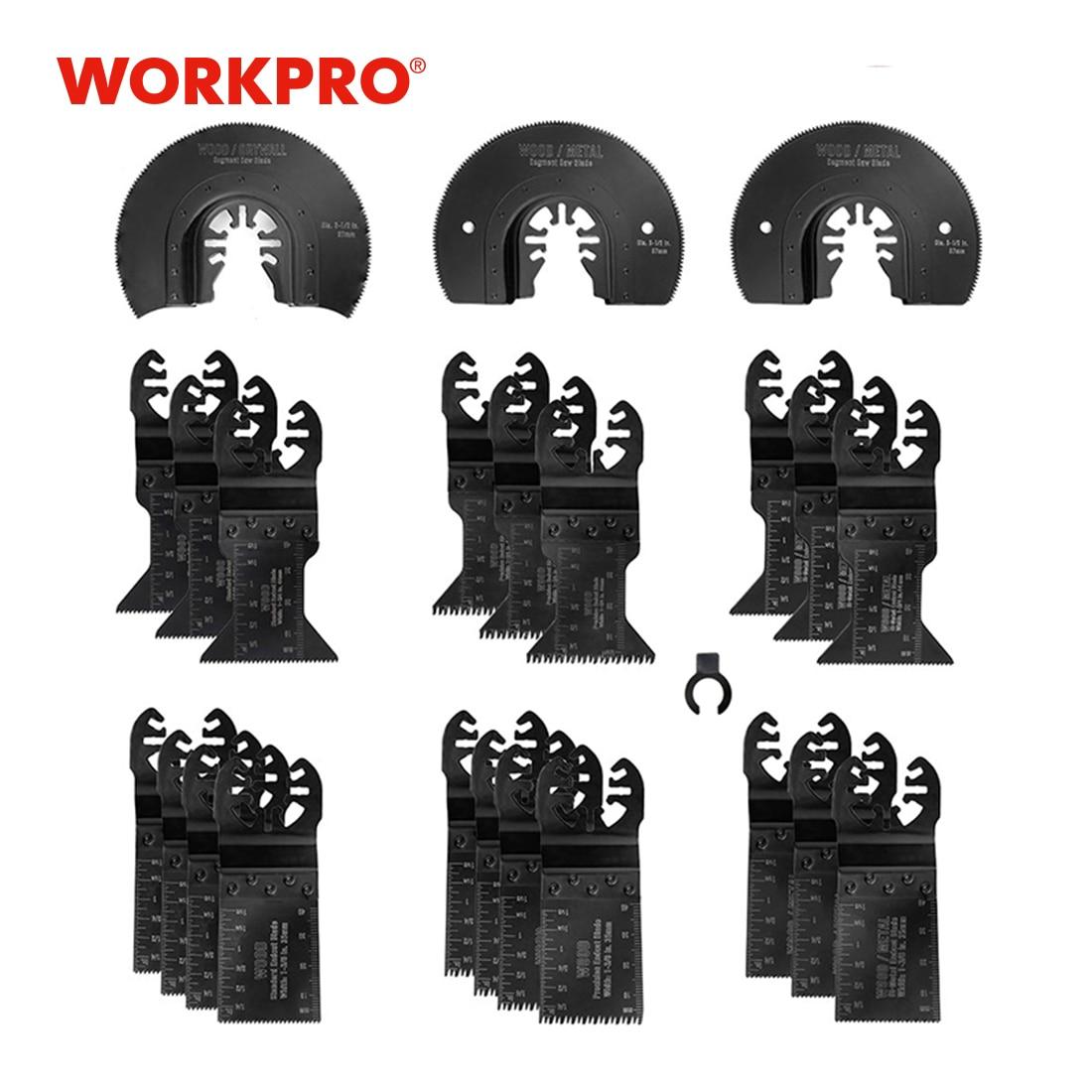 WORKPRO 23 قطعة متعددة تتأرجح شفرات المنشار للمعادن الخشب الإفراج السريع شفرات المنشار شفرات المنشار متعددة المهام