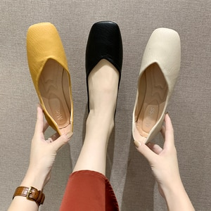 2020 Fashion Loafers Women Round Toe Comfortable Lightweight Solid Color New All-match Flat Shoes Zapatillas Mujer W28-11