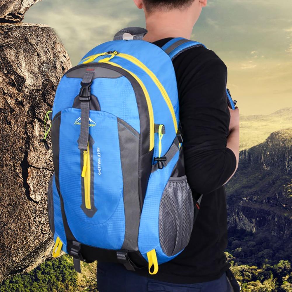 Mochila De Montañismo al aire libre de 40 L, mochila para acampar, senderismo, senderismo, viaje, impermeable, cubierta para lluvia, BOLSA PARA BICICLETA, bolsas de hombro deportivas