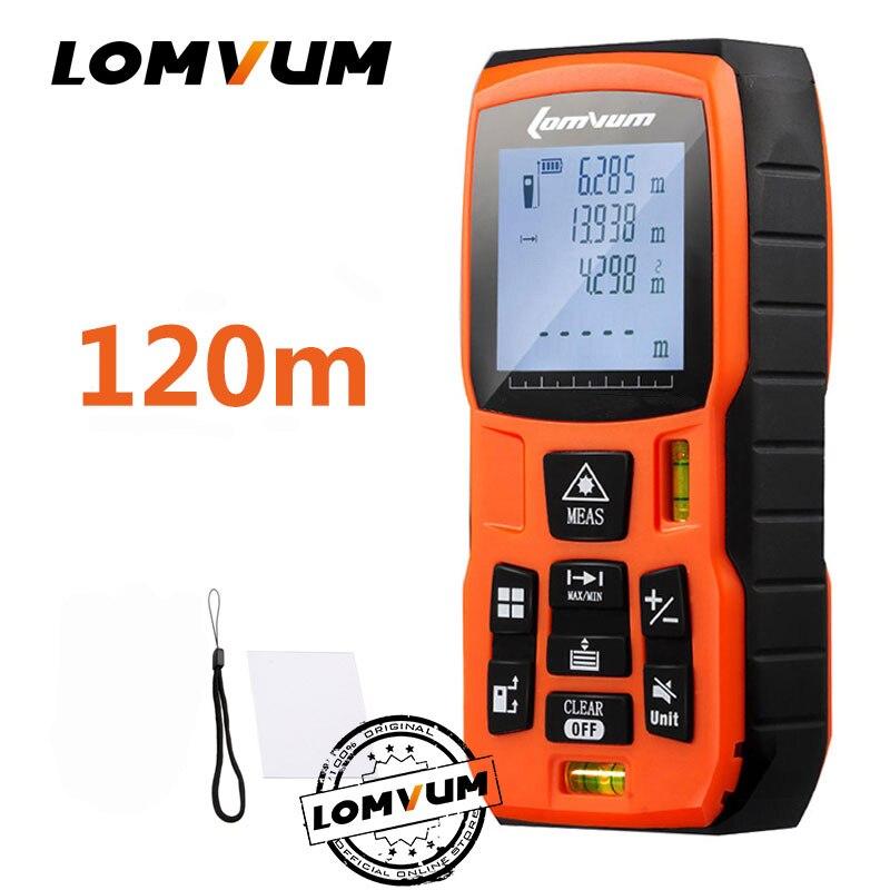 LOMVUM 40m trena cinta métrica medidor láser regla Rangefinders medidor de distancia Digital medidor telémetro
