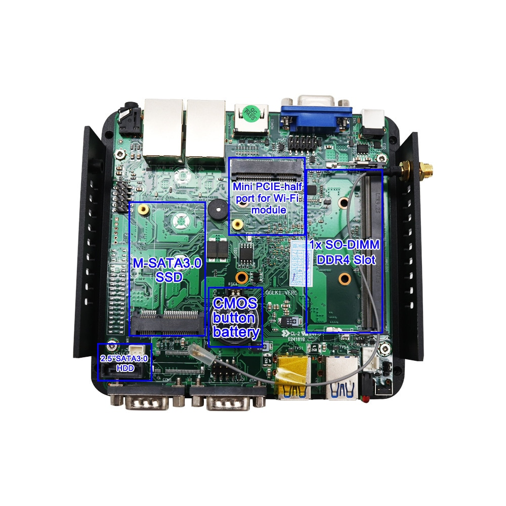 CPYX mining small host J4125 dual network dual serial port supports timing boot mini computer host enlarge