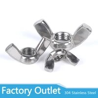 m3 m4 m5 m6 m8 m10 m12 304 stainless steel hand tighten nut butterfly nut ingot wing nuts din315