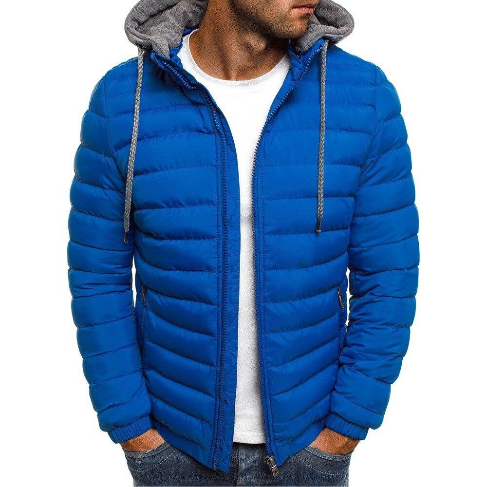 Мужская стеганая куртка с капюшоном AW21, черная теплая Повседневная стеганая куртка с капюшоном, на зиму 2019