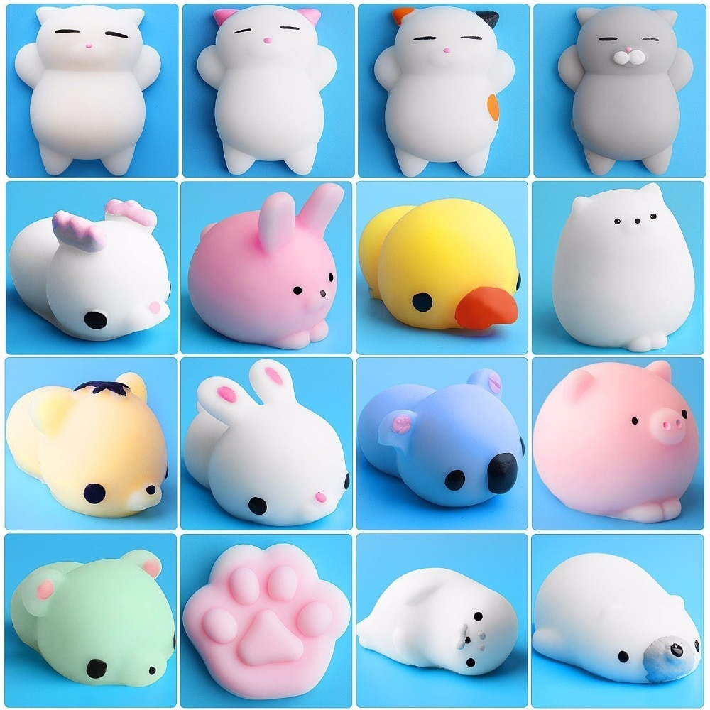 toys for children 10 years Squishy Cute Animal Antistress Ball Squeeze Mochi Rising Toys Abreact Soft Sticky Stress Relief Toys enlarge