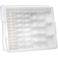42 piece assorted storage tray %e2%80%93 bead organizer with 42 containers of various sizes a tray and lid for beads and more
