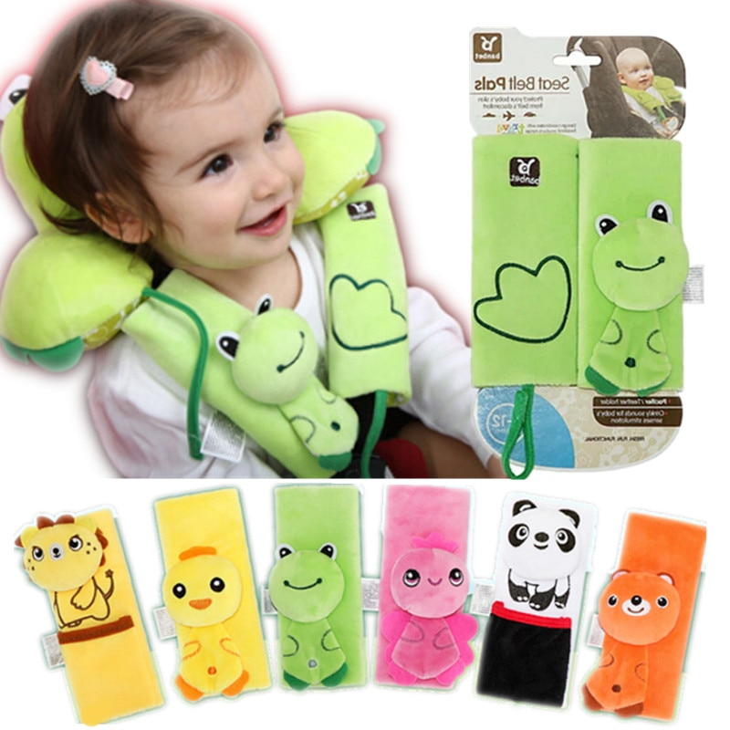 Детские ремень безопасности для автомобильного кресла накладки на плечо, Мягкие накладки на плечо, аксессуары для Подушка для детской коля...