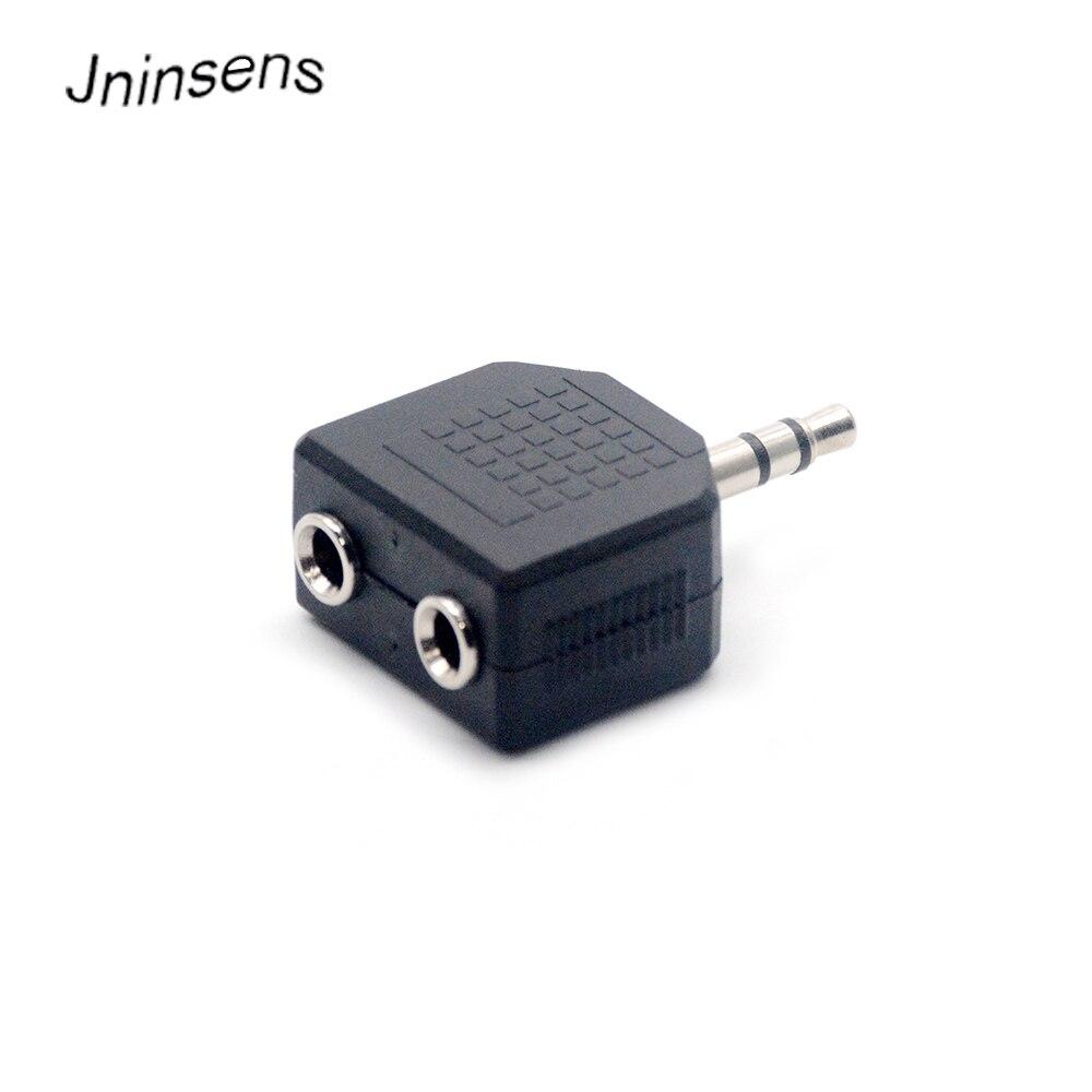 2 pçs/lote mini estéreo 3.5mm jack de áudio macho para dupla 3.5mm fêmea dupla fone ouvido y divisor adaptador plug para mp3 telefone