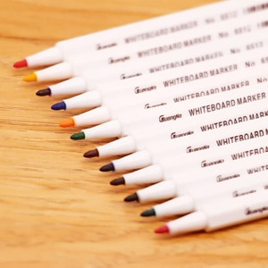 12 Colors Whiteboard Pens The Office Stationery Color Whiteboard Markers School Supplies Erasable Eco-friendly Whiteboard Marker