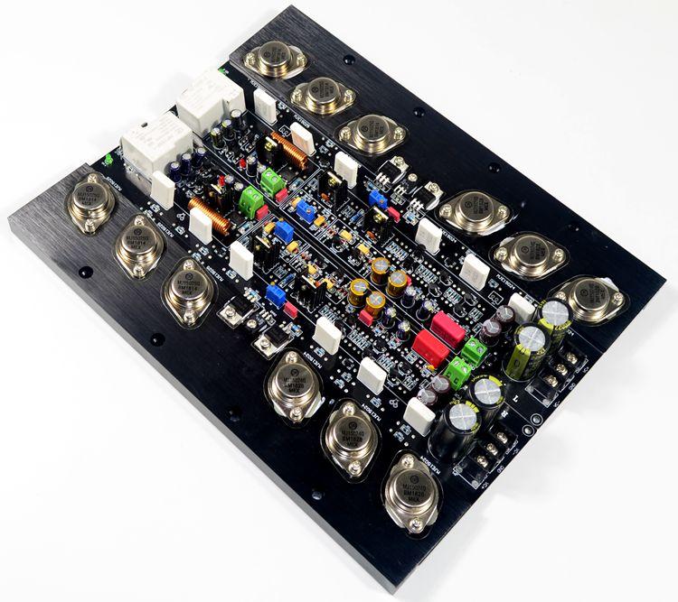 KSA50 MJ15024G/MJ15025G 250W + 250W etapa trasera pura ajustable Clase A placa amplificadora de potencia (1 par)