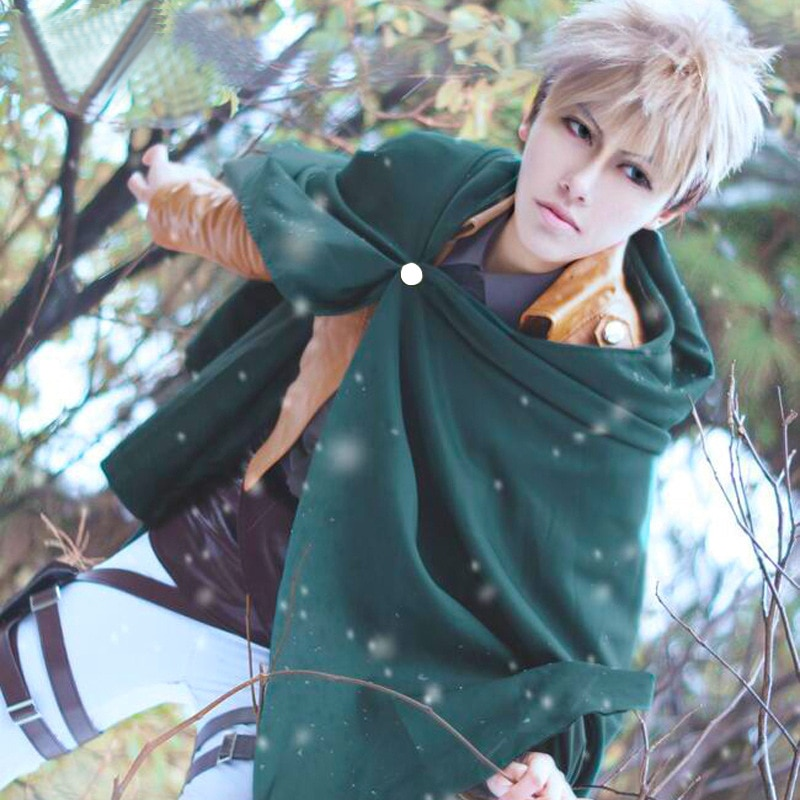 Attack on Titan Cosplay Costumes Anime Shingeki No Kyojin Cardigan Scout Regiment Levi Cloaks Cosplay Costume Role Play Clothing