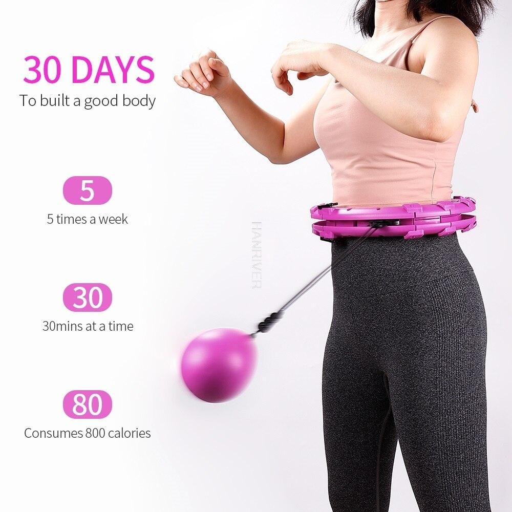 Smart Sport Hoop Detachable Adjustable Auto-Spin Thin Waist Abdominal Slimming Exercise Muscle Massa