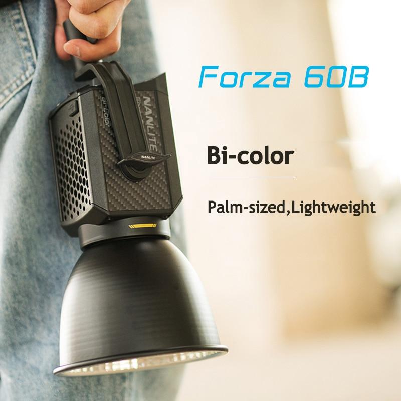 Профессиональный студийный светодиодный стробоскоп Nanguang Nanlite Forza 60B, 60 Вт, двухцветный светильник 2700-6500K для видео, Стробоскопическая Лампа ...