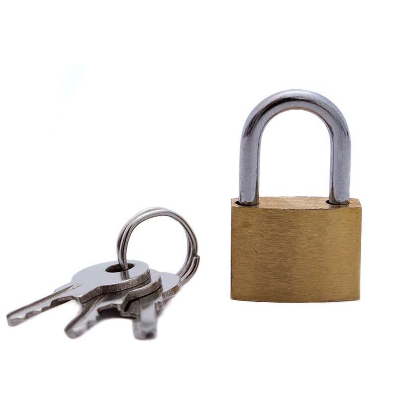 1 pçs 20mm pequena fechadura de cobre com chaves caso bagagem cadeado armários de armazenamento mini cadeado melhoria da casa ferragem frete grátis