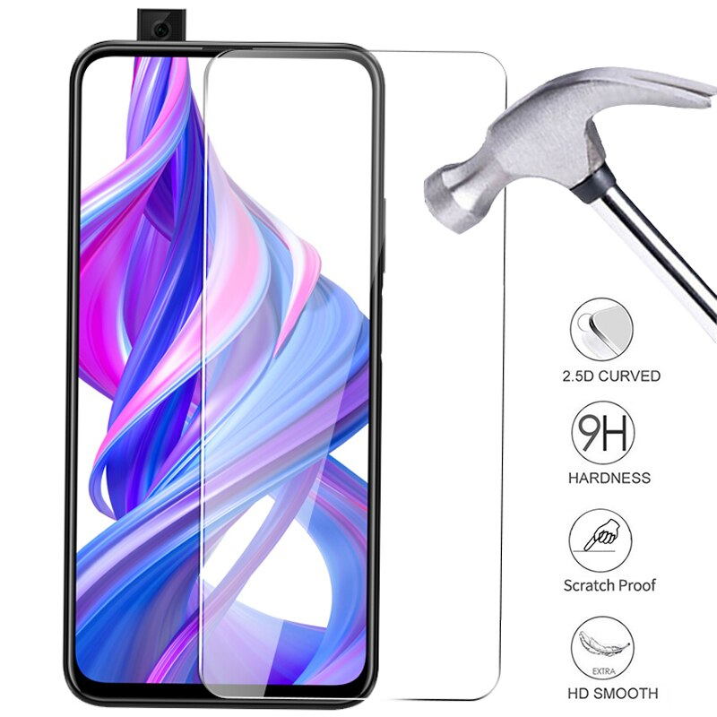 2Pcs Protective Glass for Huawei Honor 9X 9 x Safety Screen Protectors on the for Huawei 9x honor 9