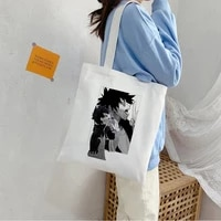 japanese anime my hero academia dabi canvas bag harajuku goth punk shopper large capacity women bag vintage shoulder bag handbag