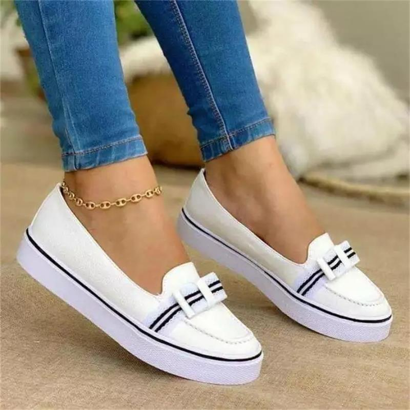 Women's Shoes Fashion Trend Casual Solid Color PU Stitching Shiny Frosted Classic Lace-up Comfortable All-season Sneakers 7KG139