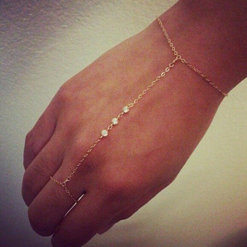 Manoplas para mujer, pulsera, dijes, Pulseras para señoras, brazaletes redondos, joyería de circón AAA, moda, Pulseras de acero inoxidable de Color dorado