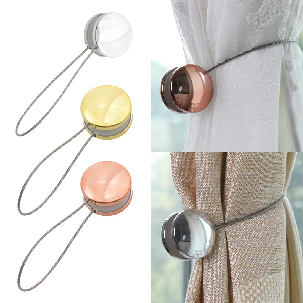 1 pacote redondo grânulos janela magnética cortina holdback tratamentos tieback