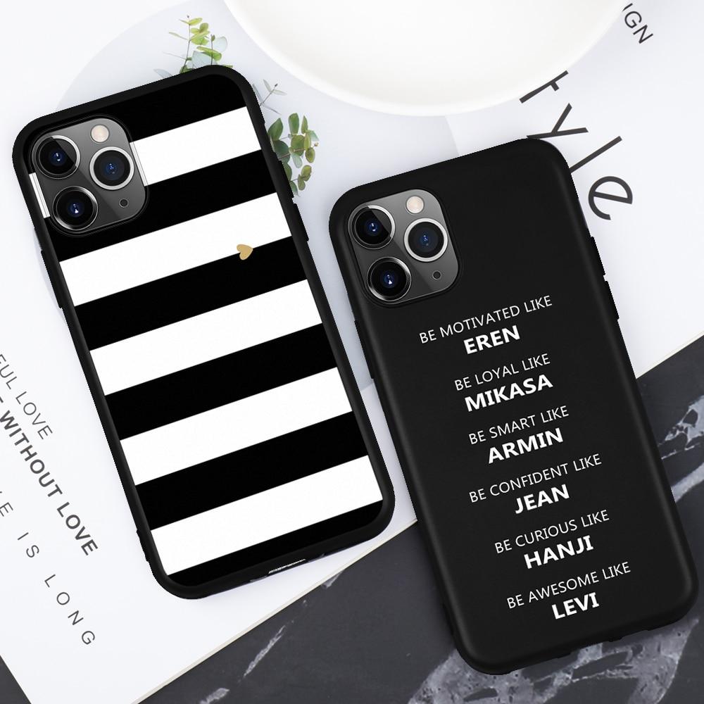 Милый мультяшный силиконовый чехол для телефона для iPhone 7, 8, 6, 6s Plus, X, 5, 5S, SE, XS чехол для max XR, Love Heart, черный чехол для iPhone 11 pro max